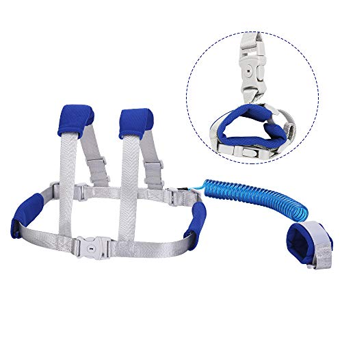 Toddler Safety Harness & Leash| Kids & Child Safety Backpack Leash 2in1 Upgraded Leash (Blue, 2.5 - Safety Child Baby Harness