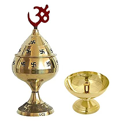 Craft Art India Combo Offer - Handmade Brass Diya Puja/Pooja Incense