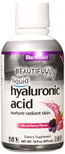 (Bluebonnet Nutrition Beautiful Ally Liquid Hyaluronic Acid, Mixed Berry, 16 Fluid)