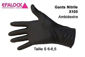 Efalock Professional Emotion Nitril-Handschuhe Größe S, 1er Pack, (1x 100 Stück) (1x 100 Stück) 12583