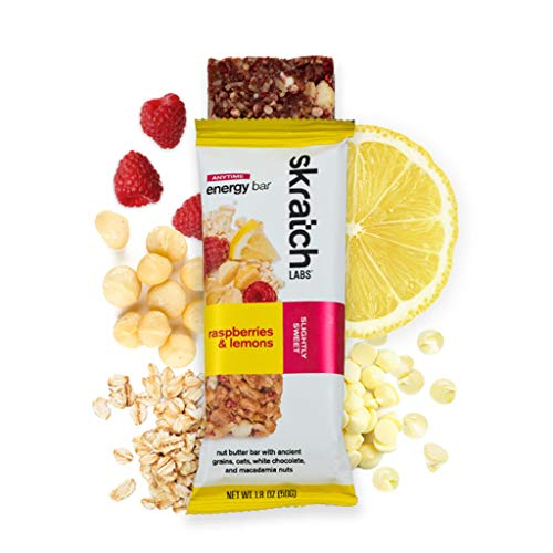 Skratch Labs Anytime Energy Bar Raspberries and Lemon