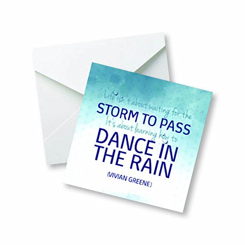 Life isn't about waiting for the storm to pass, its about learning how to dance in the rain... - Vivian greene Motivational Quote Colored Magnet (Dance Magnet)