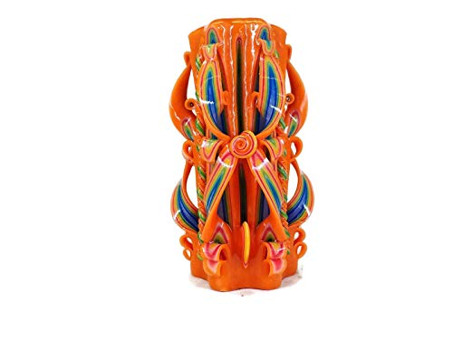 Unique Large Orange Candles Bath and Body Works 8inch Tall