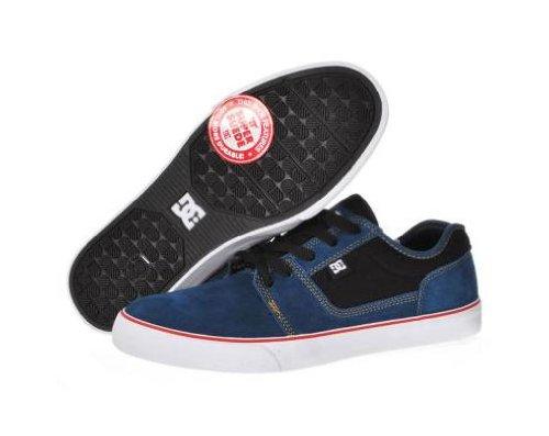 DC Mens Tonik S Skate Shoes in Blue/Grey Dark Denim/White