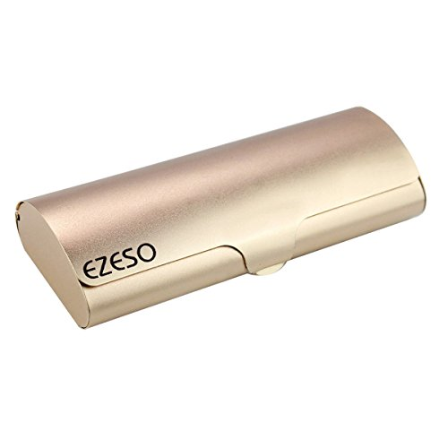 - EZESO Glasses Case Spectacle Case Box Aluminum Frosted Matte Eyeglass Case