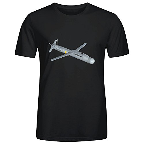 nictime-custom-raytheon-guided-gliding-and-ready-to-fly-man-t-shirt-round-collar-black