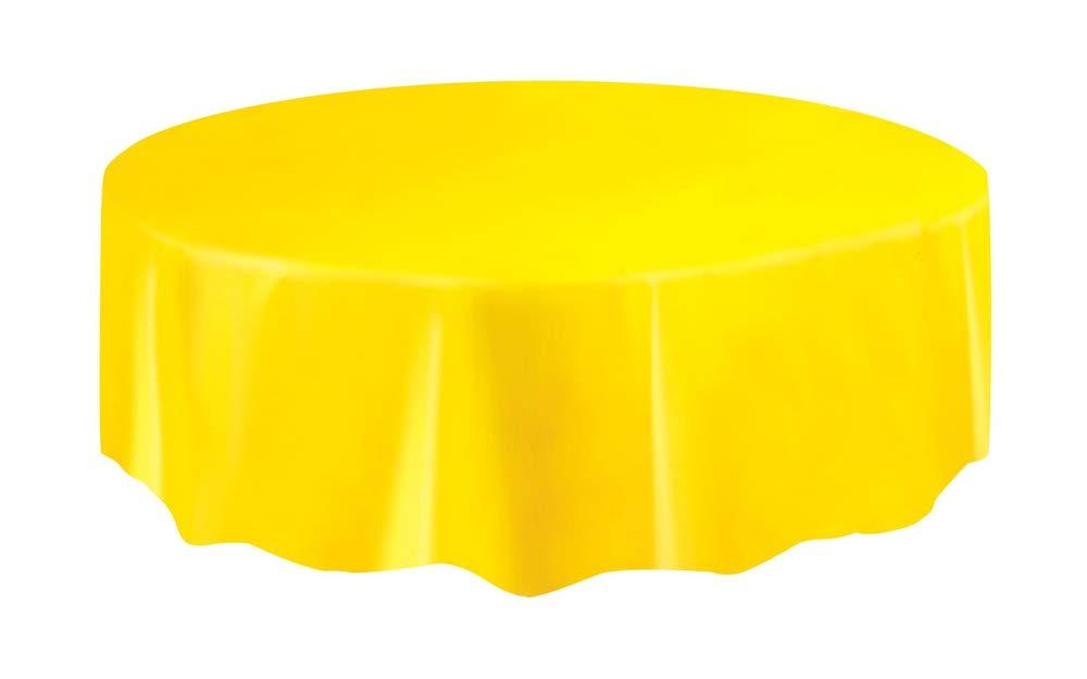 Nappe Ronde en Plastique 50026 2,13 m Unique Party Orange