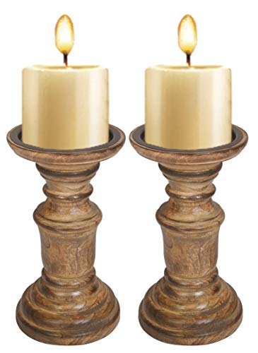 Wooden Candle Holder Stand, Rounded Turned Columns, Candalbras, Candle Holders, Unity Candle Holders, Vintage Country…