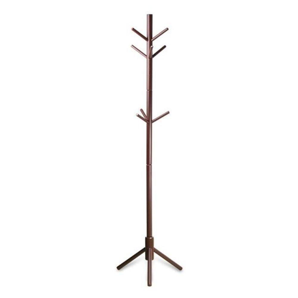 JIANFEI Floor Standing Coat Rack Hat Stand Hanger Tree 9 Hooks Thigh Waterproof, Wood (Color : Honey Color)