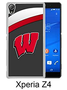 Ncaa Big Ten Conference Football Wisconsin Badgers 14 White Sony Xperia Z4 Screen Phone Case Genuine and Luxury Design