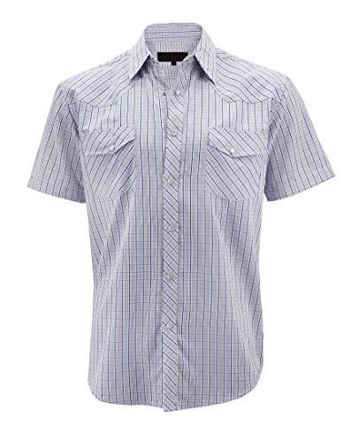LW Men's Western Cowboy Pearl Snap Short Sleeve Cotton Rodeo Dress Shirt LW126S - Snap Short Sleeve Pearl