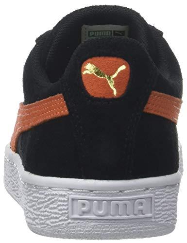 Unisex puma 38 Puma Sneaker Schwarz White Classic firecracker Black Erwachsene Suede Puma UxxOSqF