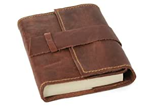 Attaché Handmade Leather Journal, Refillable Pages (9cm x 13cm)