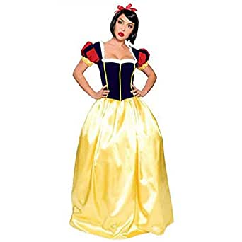 Sexy4Lady Women's Cute Adult Snow White Fairy Tales Long Costume X-Large