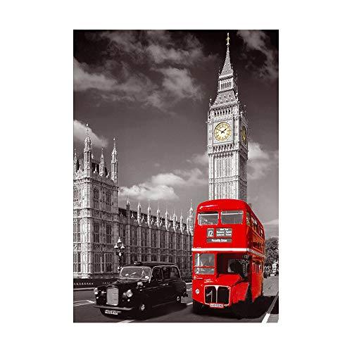 Arts Rakkiss 5D DIY London Car Bus Embroidery Square Diamond