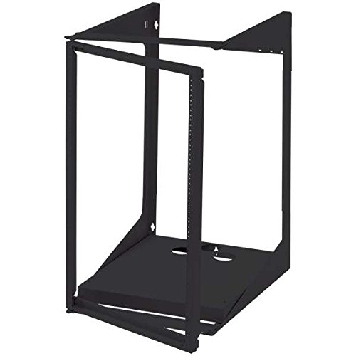C2G 14616 19U Swing Out Wall Mount Open Frame Rack, 18 Inch Deep, TAA Compliant, Black