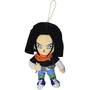 "GE Animation GE-52718 Dragon Ball Z 8"" Android #17 Black Hair Stuffed Plush"