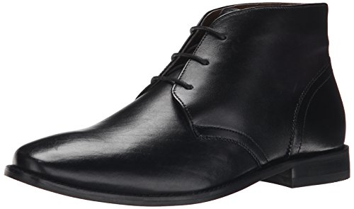 Dress Leather Boot Black (Florsheim Men's Montinaro Plain Toe Dress Casual Chukka Boot, Black, 10.5 D US)
