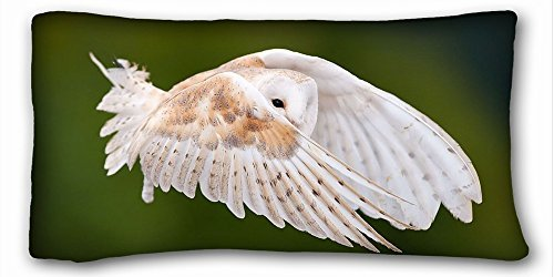 Decorative King Pillow Case Animals bird Owl feathers wings stroke flight view 20