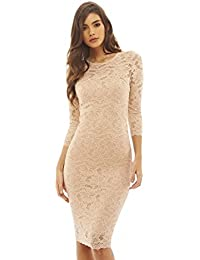 Amazon.com: Beige - Night Out & Cocktail / Dresses: Clothing ...