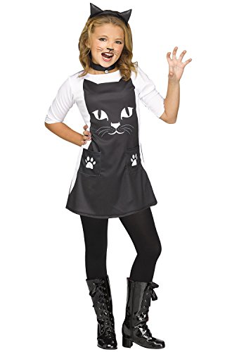 Girls Feline Chic Cat Costume size Small (Kitty Cat Halloween Costume Makeup)