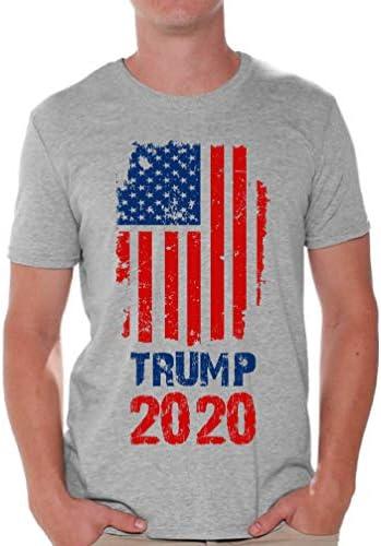 Awkward Styles Trump T Shirt Trump Flag Men`s Shirt Political Shirts Trump Gifts