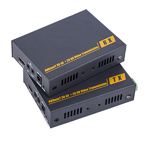E-link 4K KVM HDMI KVM HDBaseT Extender over CAT5 / 6 Kit, Transmits HDMI video signals up to 100m over a single CAT6 cable, Support video resolution up to 19201080P@60Hz and 4Kx2K (Kvm Extender Cat5/6 Kit)