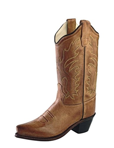 Old West Cowboy Boots Boys Girls Kids Snip 4 Youth Tan Canyon CF8229Y - Old West Cowboy Clothing