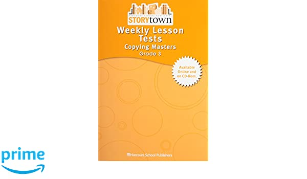 Storytown Weekly Lesson Tests Copying Masters