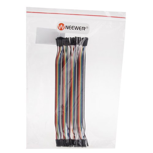 Neewer® 8 Inch/20 Cm 40pcs Jumper Wire Color Test Cable 1p-1p Pin Connector Female to Female