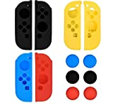 Qing Joy-Con Gel Guards with Thumb Grips Caps for Nintendo Switch (3pcs)