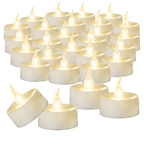 Beichi 100 Pack Flameless LED Tea Light Candles, Battery Operated Votive Tealight Little Candles with Warm White Flickering Buld Lights, Small Electric Fake Tea Candles for Holiday, Wedding, Party]()