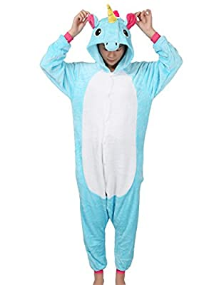 Adult Unicorn Onesie Pajamas Unisex Animal Outfit Halloween Kigurumi Cosplay Costume