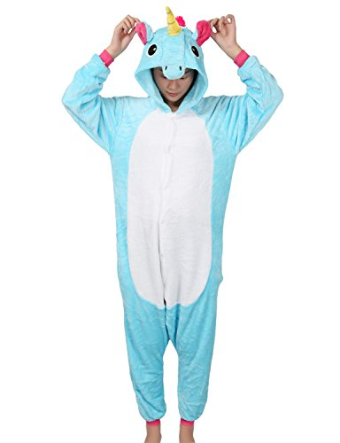 Adult-Unicorn-Onesie-Pajamas-Unisex-Animal-Outfit-Halloween-Kigurumi-Cosplay-Costume