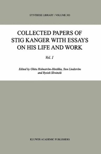 Download Collected Papers of Stig Kanger with Essays on his Life and Work (Synthese Library) PDF
