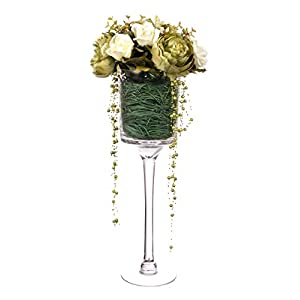 Closer2Nature Artificial 65cm White Rose and Green Peony Arrangement 29