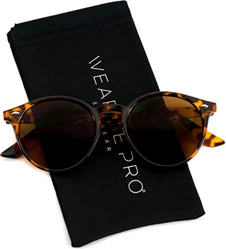 - WearMe Pro Classic Small Round Retro Sunglasses, Tortoise Frame/Brown Lens
