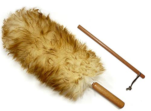 (Premium Australian Lambs Wool Duster Wand with Free Extender Pole (18
