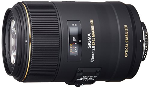 Sigma 258306 105mm F2.8 EX DG OS HSM Macro Lens for Nikon DSLR Camera