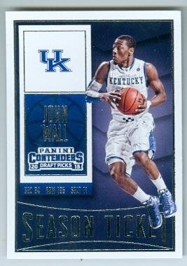 John Wall basketball card (University of Kentucky Wildcats JC) 2015 Contenders Season Ticket #49