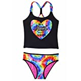 Limited Too Girls Tankini 2-PC Swimsuit, Be A mermaid and make waves,  Black,  2T