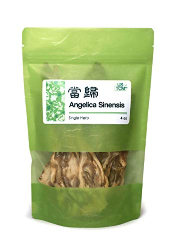 Sinensis Angelica Root - NEW PACKAGING Angelica Sinensis Root, Dang Gui Pian, Dong Quai Cut Slice 当归 4 oz.