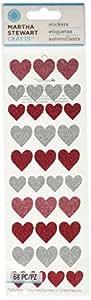 Martha Stewart Crafts Halloween Glitter Heart Stickers