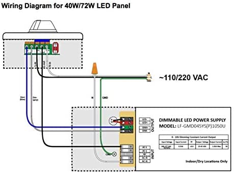 led wiring diagram amazon com led fantasy 2x2 ft led panel dimmable 0 10v  40w  140w led wiring diagram for trailer lights led fantasy 2x2 ft led panel dimmable 0