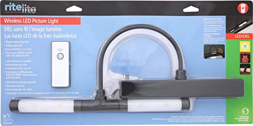 Rite Lite LPL601XLBRC Battery Operated LED Picture Light, Black by Rite Lite (Image #8)