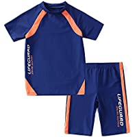 KID1234 Swimsuits for Boys - 2 Piece Set Boys Swimsuit,Wetsuit for Kids 4-12 Years …