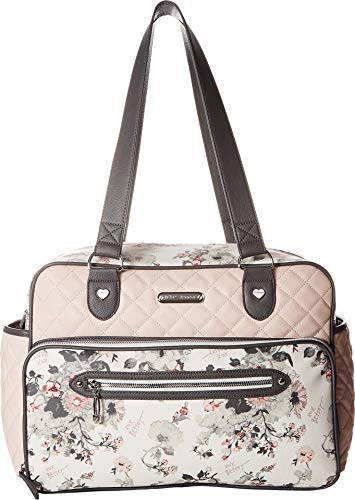 - Betsey Johnson Women's Quilted Tote Diaper Bag Pink Multi One Size