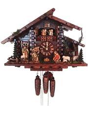 August Schwer Cuckoo Clock Christmas Clock