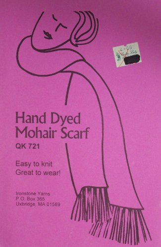 Hand Dyed Mohair Scarf Craft Pattern