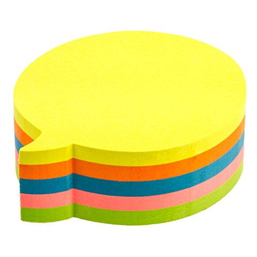 Kores Fantasy Sticky Notes Bubble Shaped, 5 Neon Colours, 70 x 70 mm, 250 -